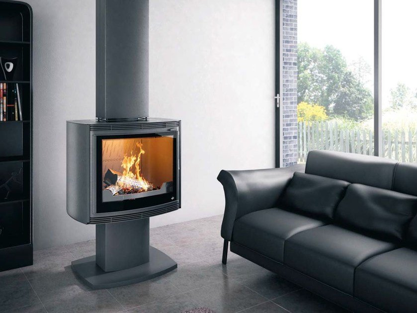 Wood-burning Central stove ONYX by CHEMINEES SEGUIN