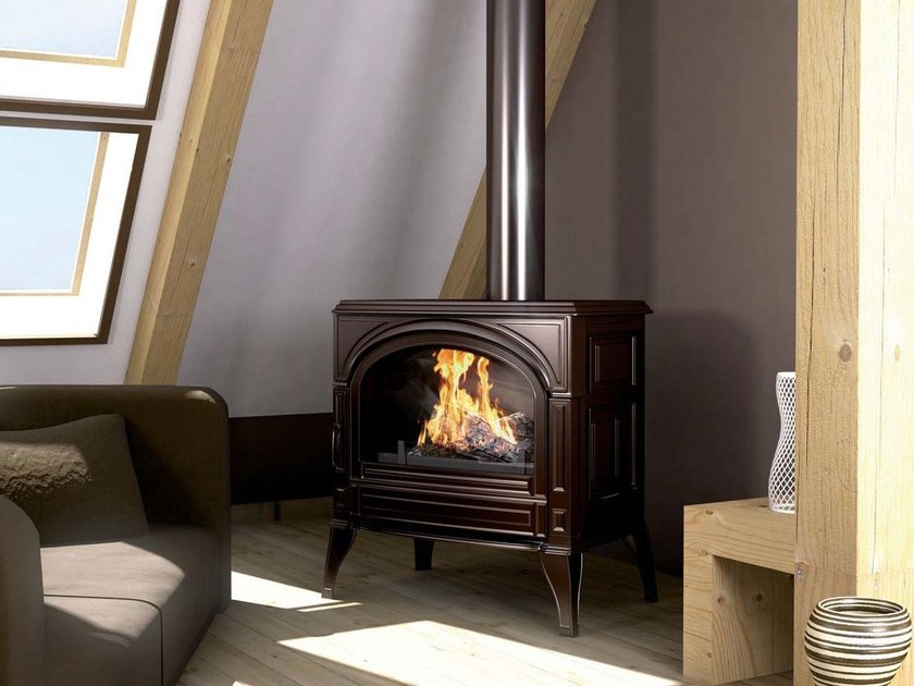 Wood-burning Central stove TOPAZE by CHEMINEES SEGUIN