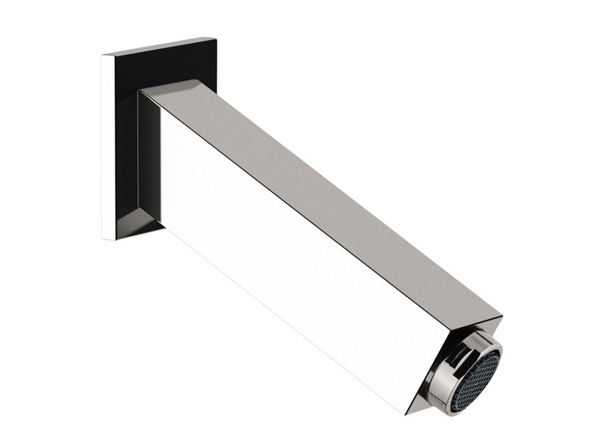 Chrome-plated wall-mounted spout TOWER | Spout by Rubinetterie Mariani