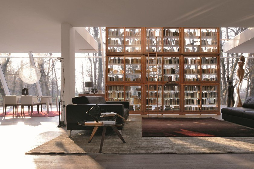 Modular wooden bookcase MODULO BIEDERMEIER | Wooden bookcase by Morelato