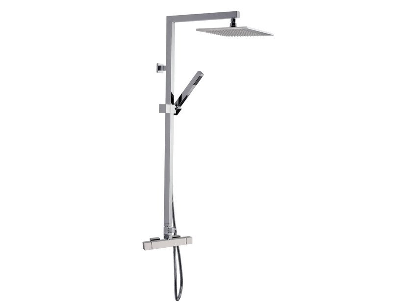 Wall-mounted shower panel with overhead shower A51-C2 | Shower panel by Rubinetterie Mariani