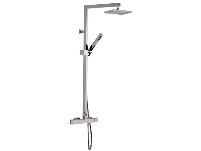 Wall-mounted shower panel with overhead shower A42-C2 | Shower panel by Rubinetterie Mariani