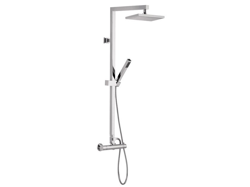 Wall-mounted shower panel with overhead shower A42-CD | Shower panel by Rubinetterie Mariani