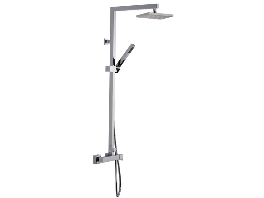 Wall-mounted shower panel with hand shower A42-C1 | Shower panel by Rubinetterie Mariani