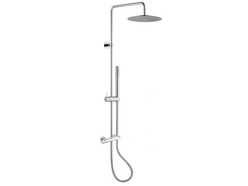 Wall-mounted thermostatic shower panel with overhead shower A57-C2 | Shower panel by Rubinetterie Mariani