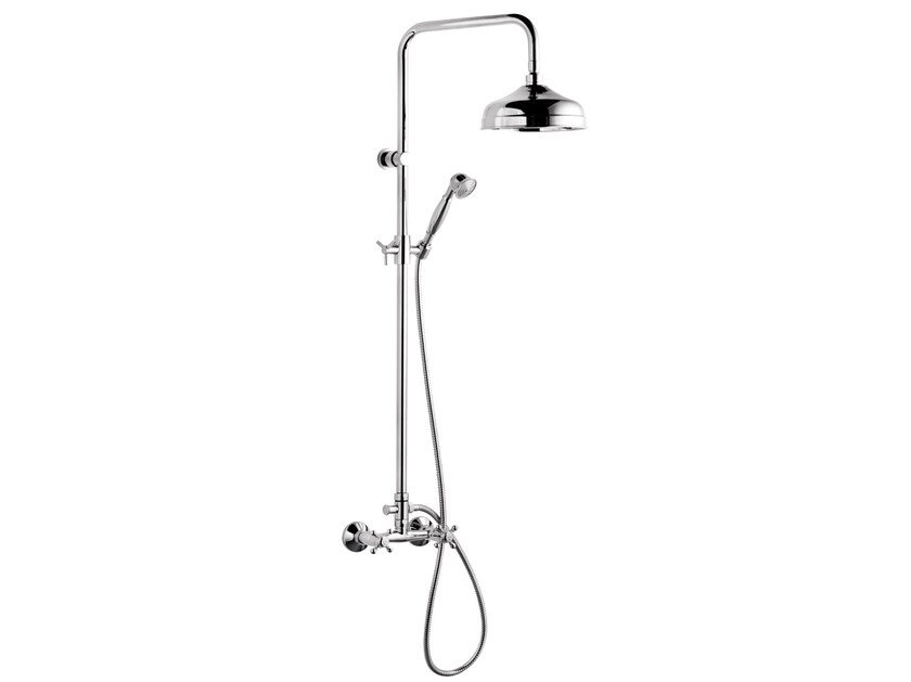 Wall-mounted shower panel with overhead shower A44-CD | Shower panel by Rubinetterie Mariani