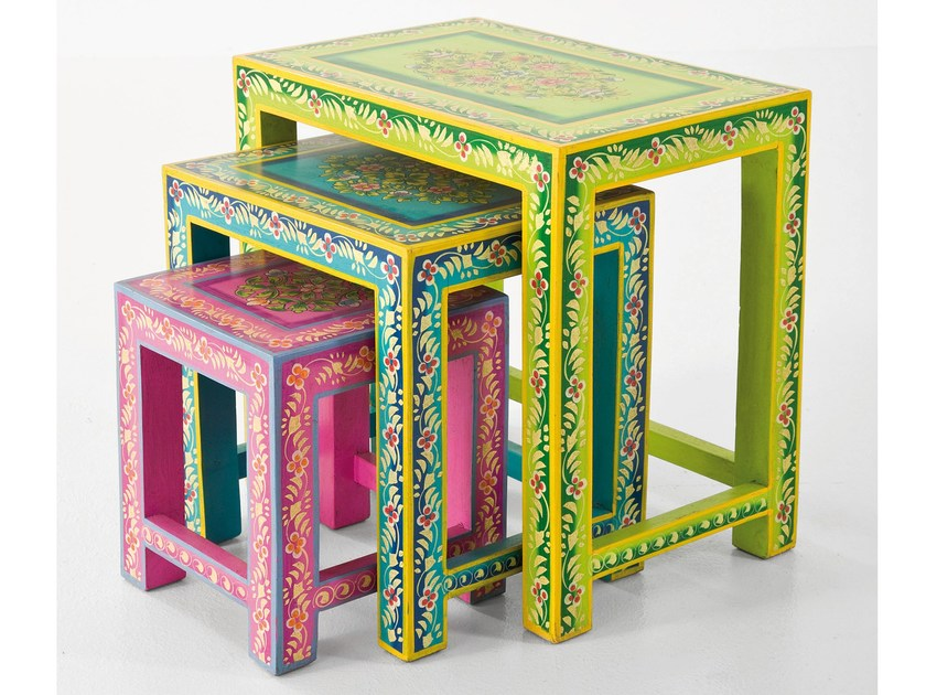 Rectangular wooden side table IBIZA LIFE by KARE-DESIGN
