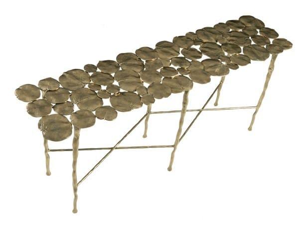 Rectangular brass console table NYMPHEA | Brass console table by Hamilton Conte Paris