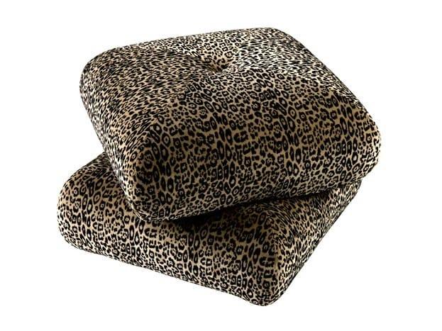 Upholstered fabric pouf NAPOLEON by Hamilton Conte Paris