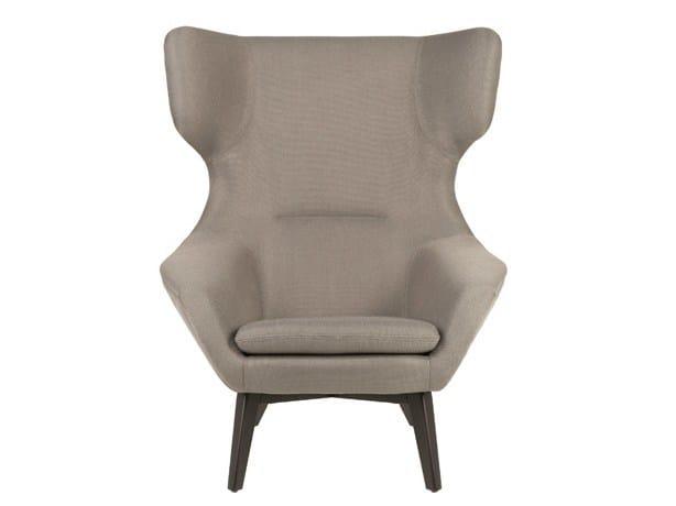 Fabric wingchair FEDE by Hamilton Conte Paris