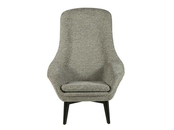 Fabric easy chair high-back DIDRIK by Hamilton Conte Paris