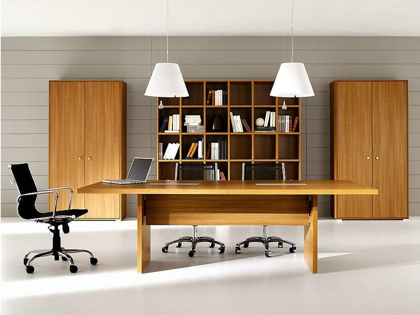 Rectangular melamine-faced chipboard meeting table PRATIKO | Melamine-faced chipboard meeting table by IFT