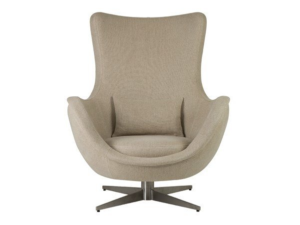 Swivel fabric armchair IRENE by Hamilton Conte Paris