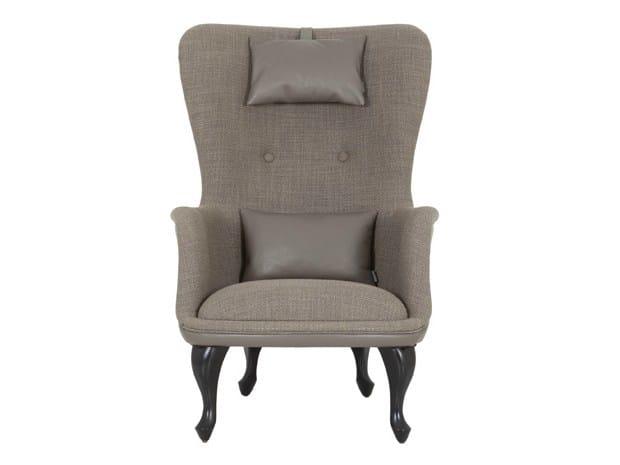 High-back fabric armchair SIGRID by Hamilton Conte Paris