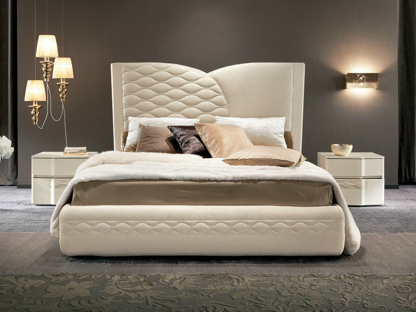 Bed with upholstered headboard CHANEL   Bed by Dall'Agnese