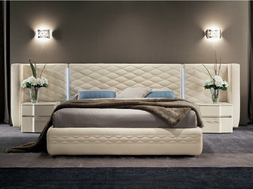 Bed with upholstered headboard CHANEL | Bed by Dall'Agnese