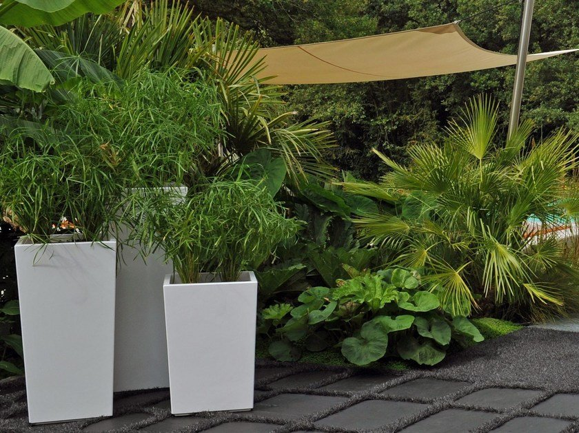 Fiber cement planter Pyramidal planter by IMAGE'IN