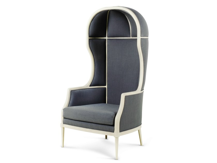 Upholstered fabric armchair with armrests LAVAL CROWN SINGLE CHAIR by STELLAR WORKS