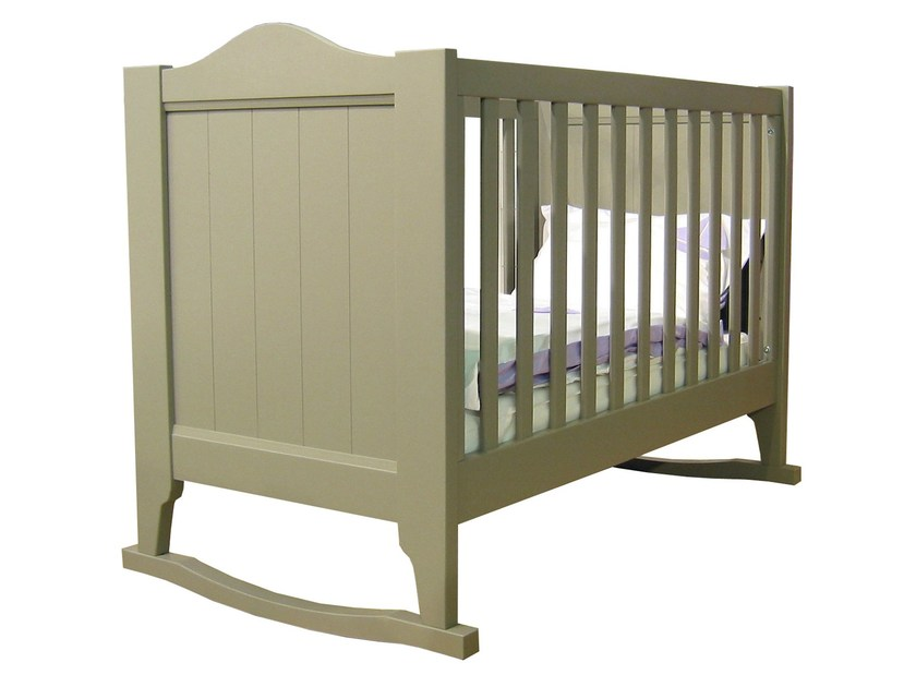 Rocking wooden cot TILLEUL   Rocking cot by Mathy by Bols