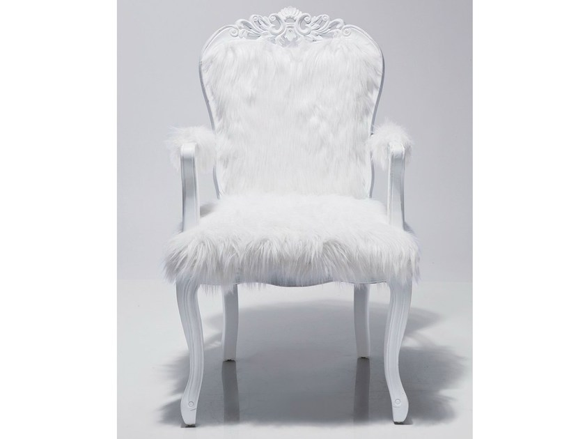 Fur armchair with armrests ROMANTICO FUR by KARE-DESIGN