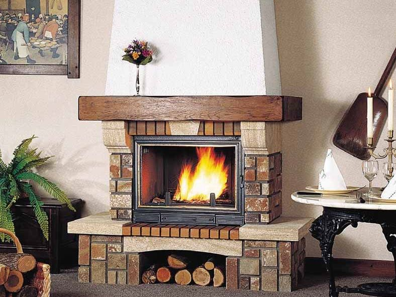 Wood-burning fireplace with panoramic glass AIGUEPERSE by CHEMINEES SEGUIN