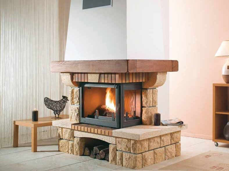 Wood-burning fireplace with panoramic glass DOMAINE by CHEMINEES SEGUIN
