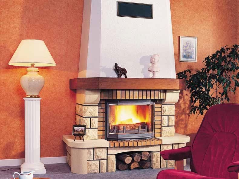 Wood-burning fireplace with panoramic glass VENCE by CHEMINEES SEGUIN