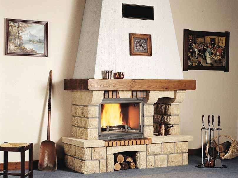 Wood-burning fireplace with panoramic glass PARME by CHEMINEES SEGUIN