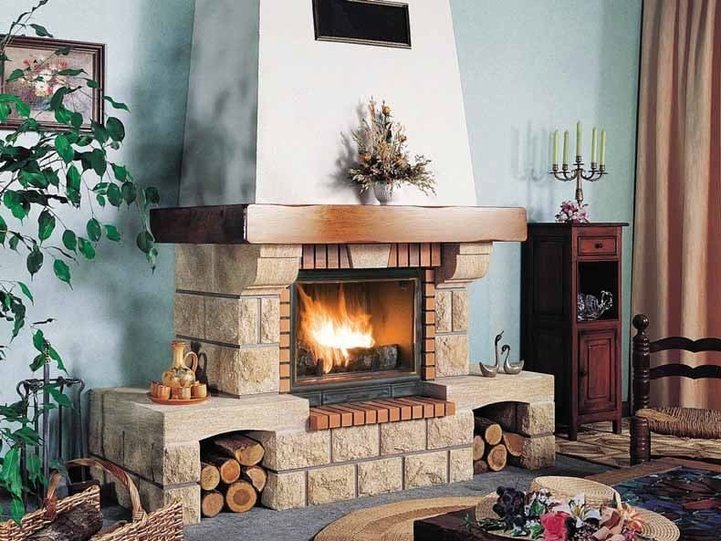 Wood-burning fireplace with panoramic glass ORCIVAL by CHEMINEES SEGUIN