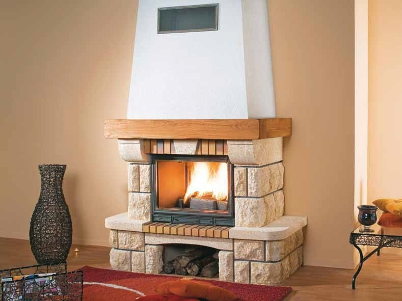 Wood-burning fireplace with panoramic glass NEPTUNE by CHEMINEES SEGUIN