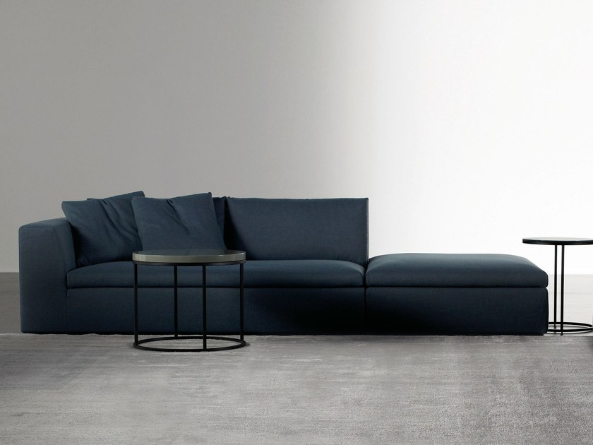 Sectional sofa with removable cover LOUIS 2.0 by Meridiani