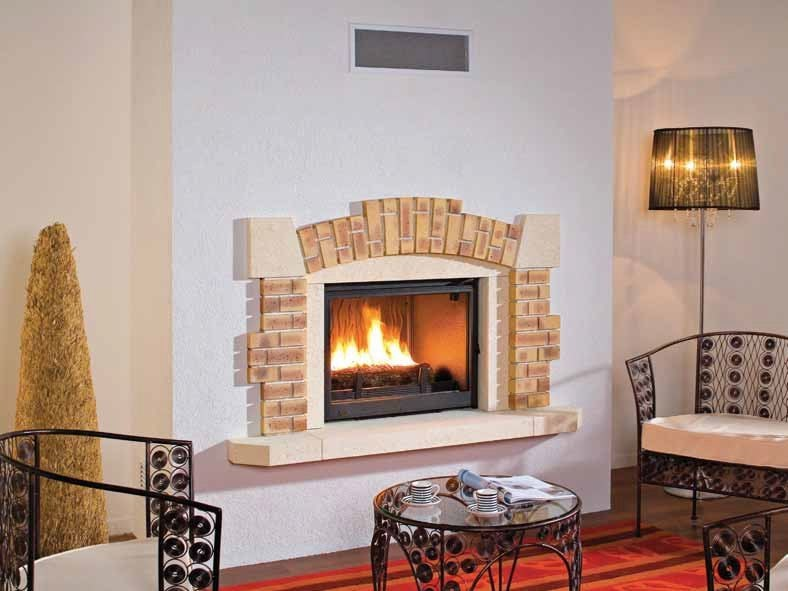Wood-burning built-in wall-mounted fireplace VALLOIRE by CHEMINEES SEGUIN