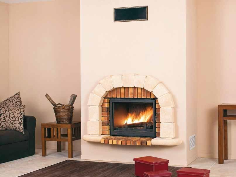 Wood-burning built-in wall-mounted fireplace SAMOA by CHEMINEES SEGUIN