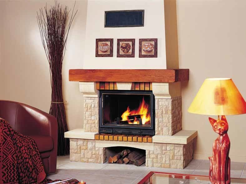 Wood-burning fireplace with panoramic glass JONCHÈRE by CHEMINEES SEGUIN