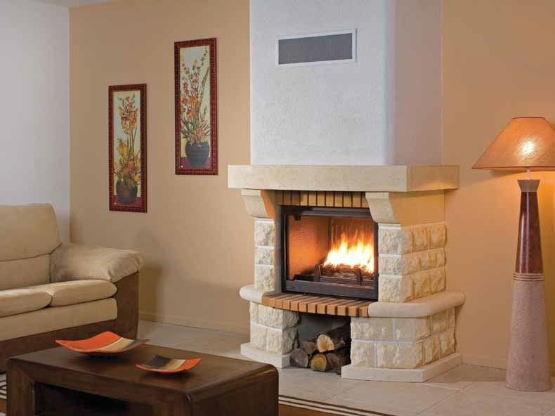 Wood-burning fireplace with panoramic glass CHATENOIS by CHEMINEES SEGUIN