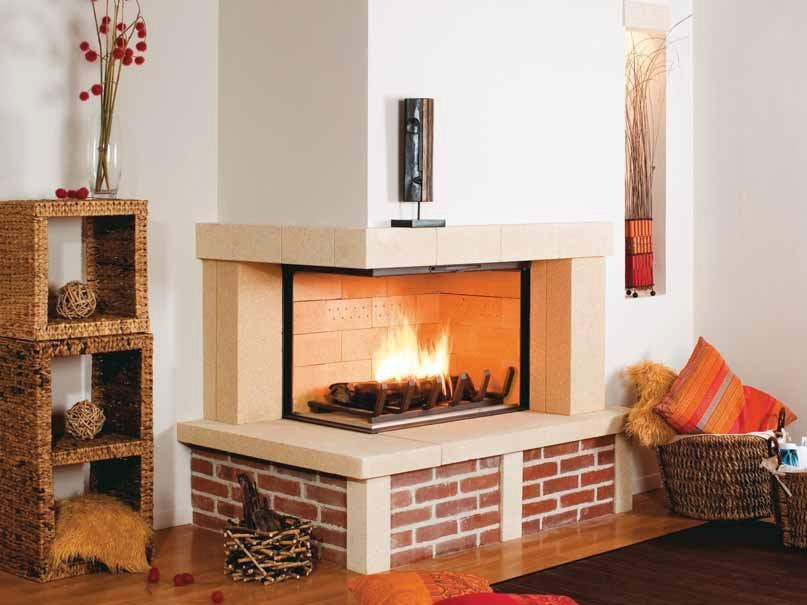Wood-burning fireplace with panoramic glass NERYS by CHEMINEES SEGUIN