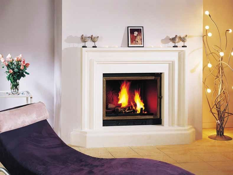 Wood-burning fireplace with panoramic glass ISABELLE by CHEMINEES SEGUIN