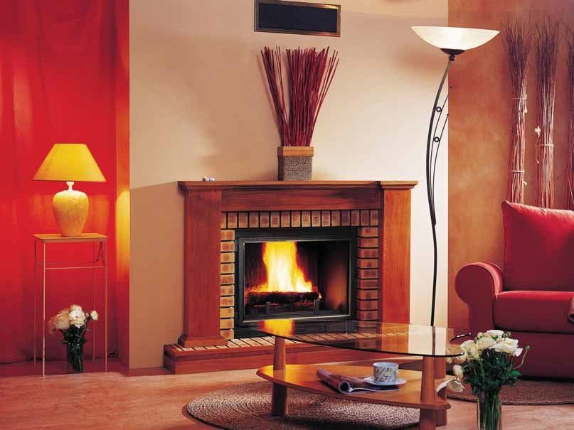 Wood-burning fireplace with panoramic glass SHIRLEY by CHEMINEES SEGUIN