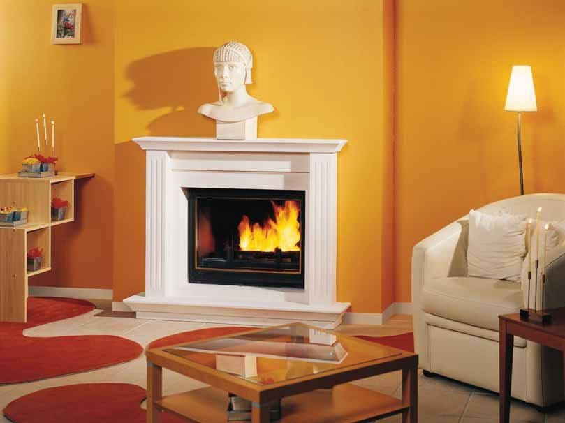 Wood-burning fireplace with panoramic glass MARIANE by CHEMINEES SEGUIN
