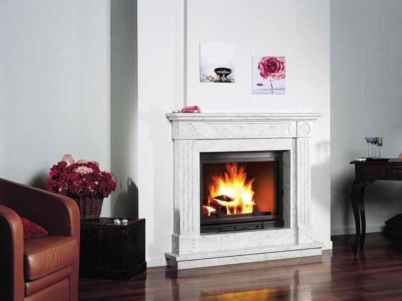 Wood-burning fireplace with panoramic glass CHEVERNY by CHEMINEES SEGUIN
