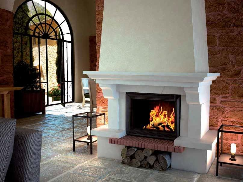 Wood-burning fireplace with panoramic glass DANOISE by CHEMINEES SEGUIN
