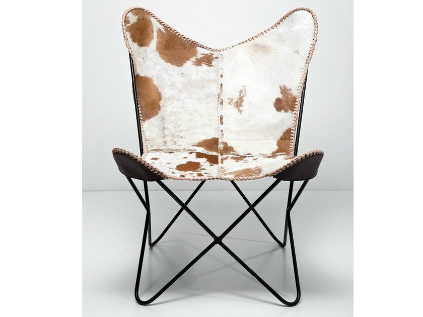 Cowhide armchair BUTTERFLY FUR by KARE-DESIGN