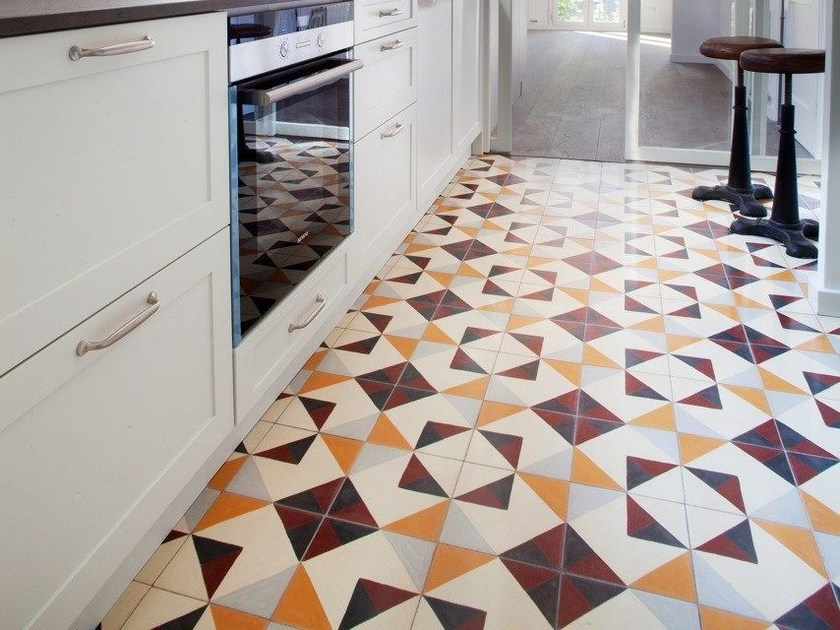 Cement wall/floor tiles GEO_UN_42 by enticdesigns
