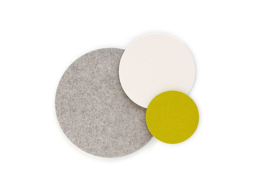 Felt decorative acoustical panel TWISTER by HEY-SIGN