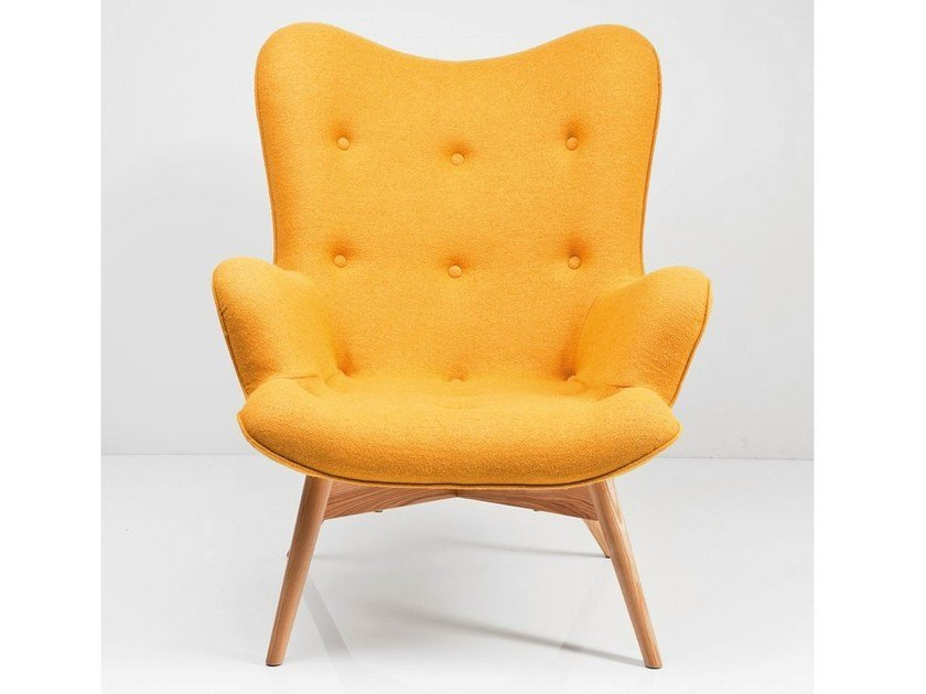 Upholstered fabric armchair with armrests ANGELS WINGS RHYTHM by KARE-DESIGN