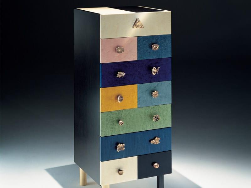 Wood veneer chest of drawers GENESIO by Zanotta