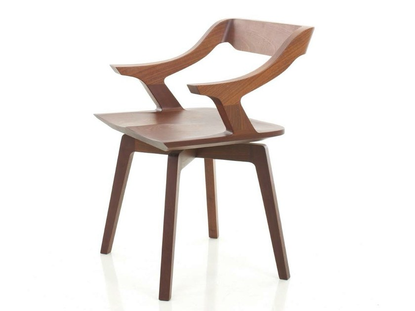 Wooden chair with armrests NEW LEGACY VITO CHAIR by STELLAR WORKS