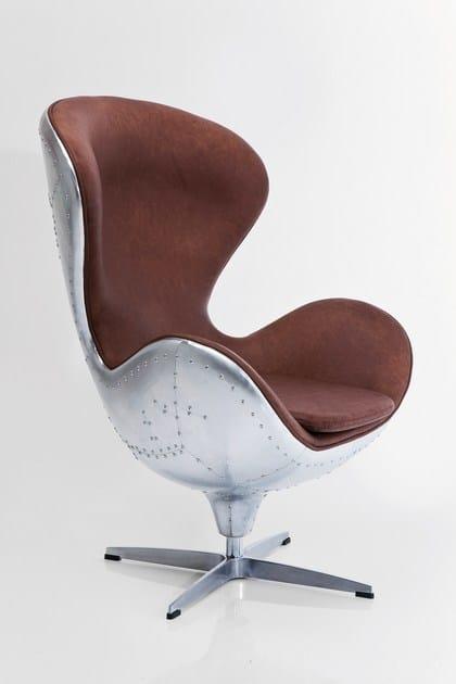 Drehbarer Sessel Aus Leder Soho Big Boss By Kare Design