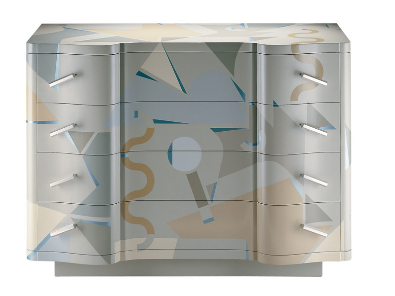 Lacquered wooden chest of drawers CETONIA by Zanotta