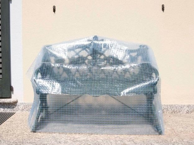 Double layer and reinforced film with eyelets NET FILM by TENAX